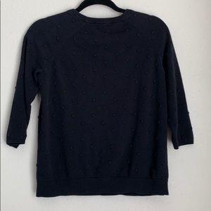 Vince Camuto raised dot 3/4 sleeve sweater